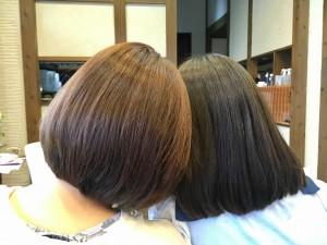 娘と同じ髪の毛に 還元美容 りずむヘアデザイン 最低限ノンシリコーン トリートメント