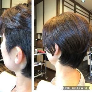 ツーブロック女子 ショートボブ 美容室 りずむヘアデザイン