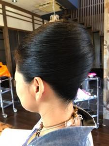 夜会巻き お祭りヘアセット 土浦市 美容室 りずむヘアデザイン