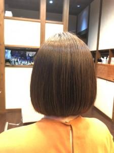 縮毛矯正 内巻き ボブ 美容室 土浦市 りずむヘアデザイン ノンシリコーン