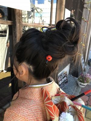 七五三ヘアメイク 着付け 美容室 土浦市 りずむヘアデザイン