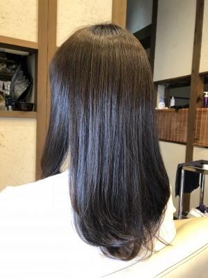 アッシュ 透明感のある髪の毛 美容室 土浦市 りずむヘアデザイン