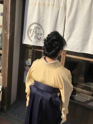 卒業式 袴着付け ヘアメイク 土浦市 美容室 りずむヘアデザイン