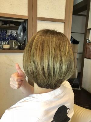 マット系 ヘアカラー ハイトーン   美容室 土浦市 りずむヘアデザイン