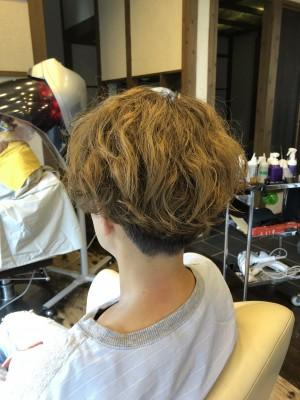 ベリーショート パーマ 美容室 土浦市 りずむヘアデザイン