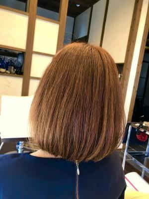 ピンク ボブ 美容室 土浦市 りずむヘアデザイン