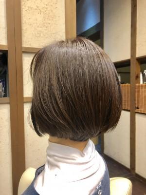 シンプルショートボブ ショートボブ 土浦市 美容室 りずむヘアデザイン