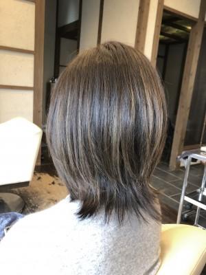ハイライト ブリーチ アッシュ ダメージレス ヘアカラー 土浦市 美容室 りずむヘアデザイン