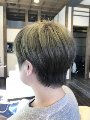 ショート 襟足のクセ マットブラウン ノンシリコーン 土浦市 美容室 りずむヘアデザイン