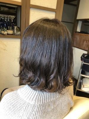 縮毛矯正 縮毛矯正+デジタルパーマ ノンシリコーン 美容室 土浦市 髪質改善