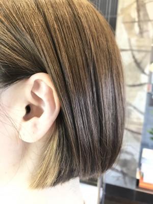 イヤリングカラー ヘアカラー ブリーチ 最低限ノンシリコーン 土浦市 美容室 りずむヘアデザイン 還元美容