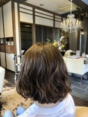 エアウェーブ パーマ ボブパーマ 高垣麗子 まとまりやすい ボブ パーマ 土浦市 美容室 りずむヘアデザイン
