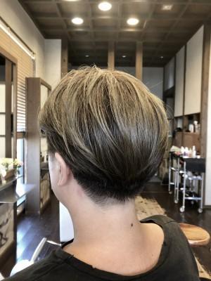 コンパクトショート 刈り上げ女子 2ブロ女子 土浦市美容室 りずむヘアデザイン