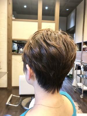 ショートパーマ 森星 ショートヘア 土浦市 美容室 りずむヘアデザイン 絶壁 鉢はり ショートカット ドライカット 髪の毛のクレンジング