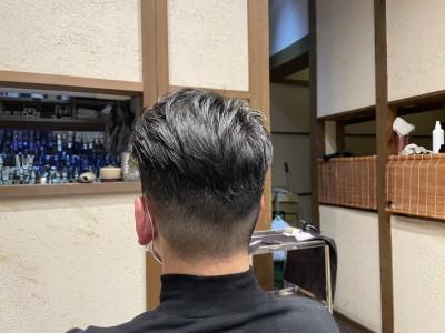 フェード 美容室 土浦市 りずむヘアデザイン 不良 ポンパドールスタイル メンズ