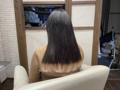 毛先カラー ヘアカラーホワイト ホワイトブリーチ 土浦市 美容室 りずむヘアデザイン