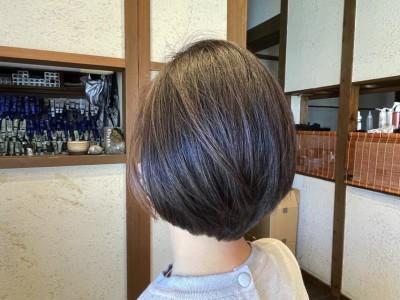 ショートボブ 丸みボブ ボブ グラデーションボブ ヘアカラー 美容室 土浦市 りずむヘアデザイン