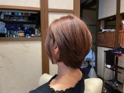 ショートボブ 耳掛けショートボブ 丸みショートボブ 美養院 美容室 土浦市 りずむヘアデザイン