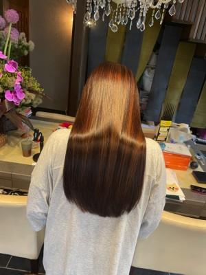 髪の毛のクレンジング デケミ  ヘアカラー ロングヘア 痛まないヘアカラー りずむヘアデザイン 土浦市 美養院