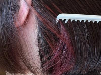 社会人対応 インナーカラー イヤリングカラー ヘアカラー ブリーチ 最低限ノンシリコーン 土浦市 美容室 りずむヘアデザイン 還元美容