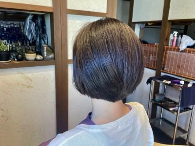 丸みショートボブ スタイリングしやすい 髪と地肌のクレンジング 土浦市 美容室 りずむヘアデザイン