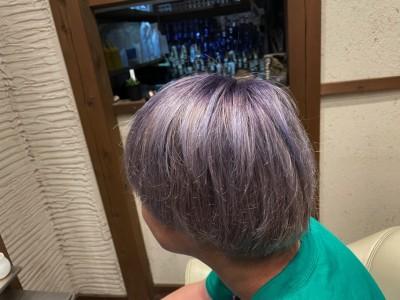 シャドールーツカラー ブリーチ アッシュ ハイトーン ヘアスタイル 土浦市 美容室 ノンシリコーン りずむヘアデザイン