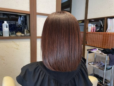 ボブ ノンシリコーンヘアカラー 痛まない 界面活性剤不使用 縮毛矯正 りずむヘアデザイン 還元美容